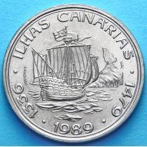 Португалия 100 эскудо 1989 год. Канарские острова.