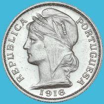 Португалия 20 сентаво 1916 год. Серебро