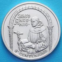 Португалия 500 эскудо 1995 год. Святой Антоний. Серебро.