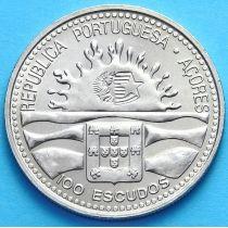 Азорские острова, Португалия 100 эскудо 1995 г. 100 лет автономии