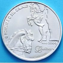 Португалия 1000 эскудо 2000 год. Всадник. Серебро.