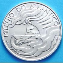Португалия 1000 эскудо 1999 год. Атлантика под парусом. Серебро.
