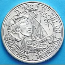 Португалия 1000 эскудо 1995 год. Жао II. Серебро.