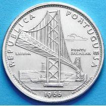 Португалия 20 эскудо 1966 год. Мост Салазара. Серебро