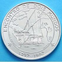 Португалия 1000 эскудо 1992 год. Встреча двух миров. Серебро.