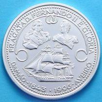 Португалия 1000 эскудо 1996 год. Фрегат Глория. Серебро.