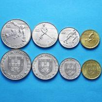 Португалия набор 4 монеты 1982 год. Хоккей с мячом.