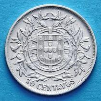Португалия 10 сентаво 1915 год. Серебро.