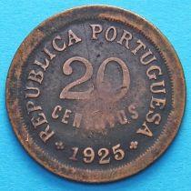 Португалия 20 сентаво 1925 год.
