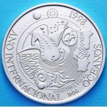 Португалия 1000 эскудо 1998 год. Год океана. Серебро