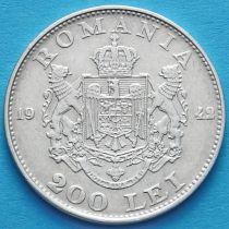 Румыния 200 лей 1942 год. Серебро.