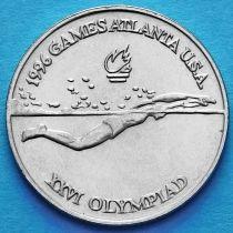 Румыния 10 лей 1996 год. Плавание.