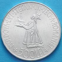 Румыния 500 лей 1941 год. Воссоединение Бессарабии и Румынии. Серебро.