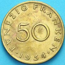 Германия, Саар 50 франков 1954 год.