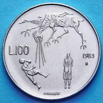 Сан Марино 100 лир 1983 год. Ядерная угроза.