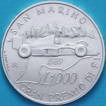 Сан Марино 1000  лир 1989 год. Гран-при Сан-Марино. Серебро.
