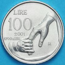 Сан Марино 100 лир 2001 год.