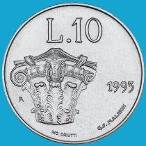 Сан Марино 10 лир 1993 год. Коринфская капитель.