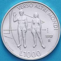 Сан Марино 1000 лир 1997 год. Вселенная. Серебро.