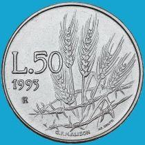 Сан Марино 50 лир 1993 год. Пшеница, растущая через колючую проволоку.