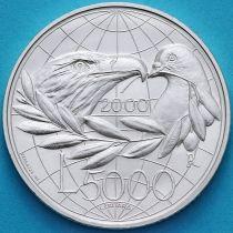 Сан Марино 5000 лир 2000 год. Мир. Серебро.
