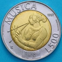 Сан Марино 500 лир 1997 год. Музыка.