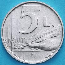 Сан Марино 5 лир 1991 год. Устав общины 1253 года