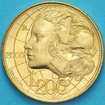 Сан Марино 200 лир 2000 год. Знания