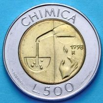 Сан Марино 500 лир 1998 год. Химия.