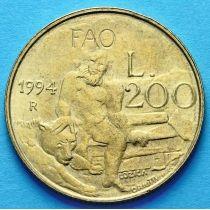 Сан Марино 200 лир 1994 год. ФАО