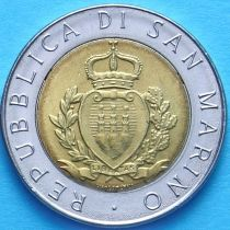 Сан Марино 500 лир 1987 год. Возобновление чеканки монет