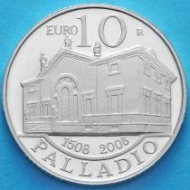 Сан Марино 10 евро 2008 год. Андреа Палладио. Серебро.