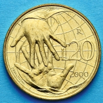 Сан Марино 20 лир 2000 год. Солидарность.