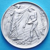Сан Марино 500 лир 1976 год. Венанцо Крочетти. Серебро.