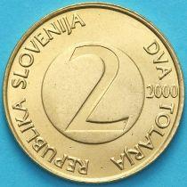 Словения 2 толара 2000 год. Ласточка.