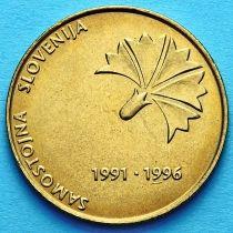 Словения 5 толаров 1996 год. 5 лет независимости Словении.