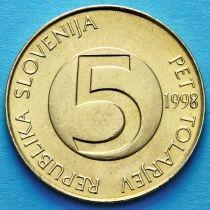Словения 5 толаров 1998-2000 год. Альпийский козел.