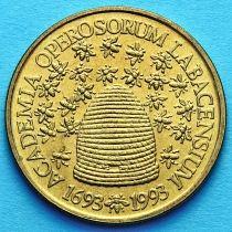 Словения 5 толаров 1993 год. 300 лет Словенской Академии Наук и Искусств.