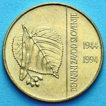 Словения 5 толаров 1994 год. 50 лет банку Словении.