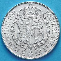 Швеция 2 кроны 1939 год. Серебро.