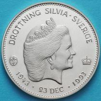 Швеция 200 крон 1993 год. Королева Сильвия. Серебро