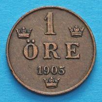 Швеция 1 эре 1879-1905 год.