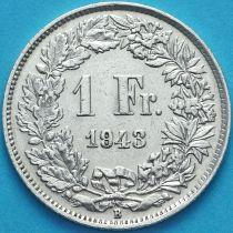 Швейцария 1 франк 1943 год. Серебро.