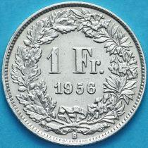 Швейцария 1 франк 1956 год. Серебро.