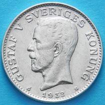 Швеция 1 крона 1938 год. Серебро.