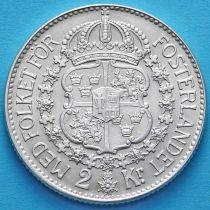 Швеция 2 кроны 1940 год. Серебро.