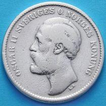 Швеция 2 кроны 1876 год. Серебро