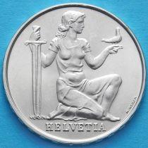 Швейцария 5 франков 1936 год. Фонд вооружения Конфедерации. Серебро.