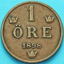 Швеция 1 эре 1898 год.