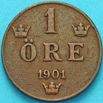 Швеция 1 эре 1901 год.